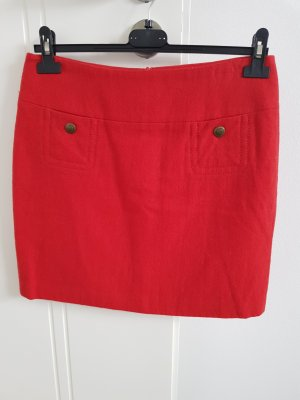 Esprit Wool Skirt red
