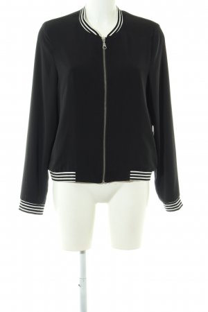Esprit College Jacket black-white striped pattern casual look