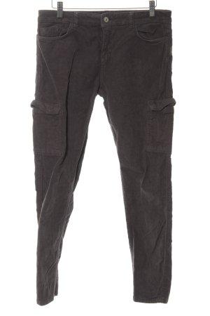 Esprit Pantalon en velours côtelé brun imprimé allover style décontracté