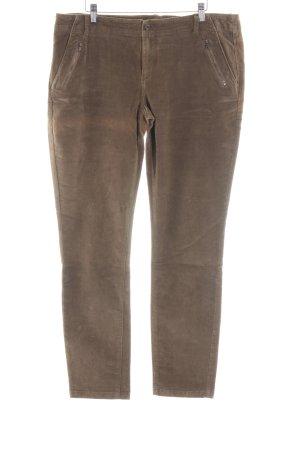 Esprit Pantalone di velluto a coste marrone stile casual