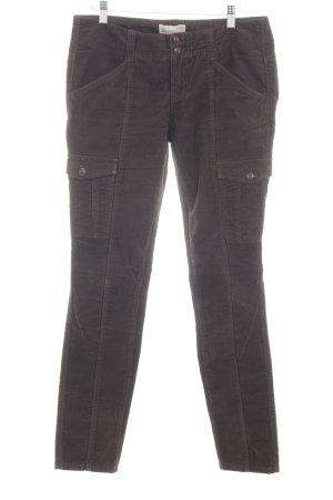Esprit Pantalone di velluto a coste grigio chiaro stile casual