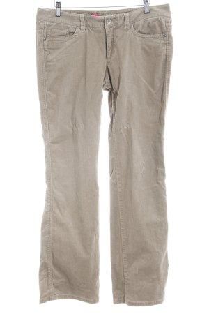 Esprit Pantalone di velluto a coste beige stile casual