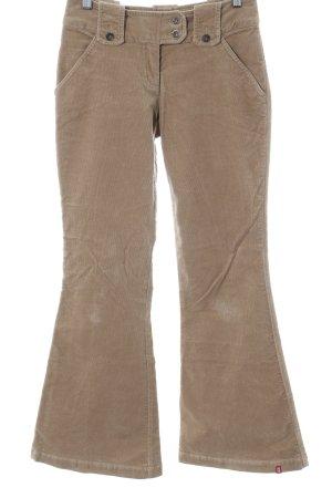 Esprit Pantalon en velours côtelé beige style décontracté