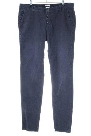 Esprit Pantalone di velluto a coste blu stile casual