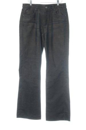 Esprit Pantalone di velluto a coste marrone scuro stile casual