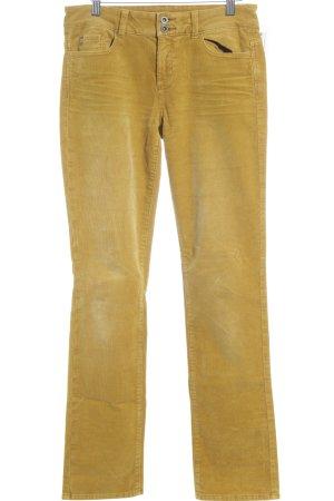 Esprit Pantalón de pana amarillo oscuro look casual