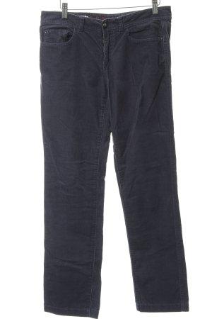 Esprit Pantalone di velluto a coste grigio ardesia-argento stile casual