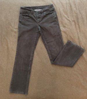 ESPRIT Cordhose, Größe 36, beige-grau, gerader Schnitt, normale Bundhöhe