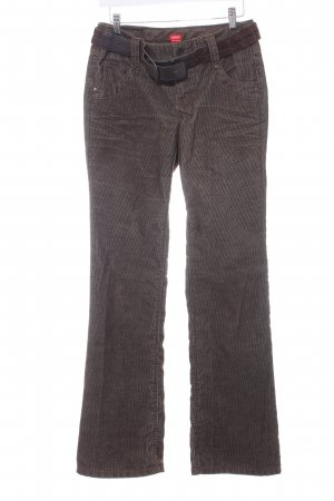 Esprit Corduroy Trousers green grey casual look