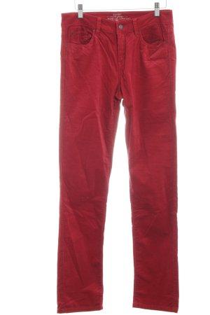 Esprit Pantalone di velluto a coste rosso stile casual