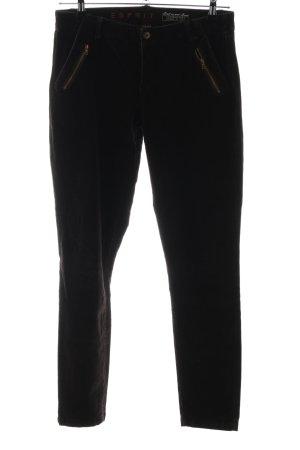 Esprit Pantalón de pana marrón oscuro look casual