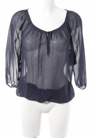 Esprit Crash-Bluse blau Casual-Look