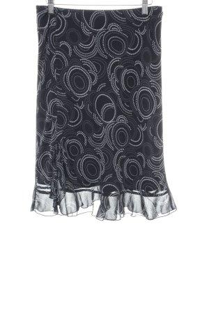 Esprit Jupe en tissu crash noir-blanc motif graphique style décontracté