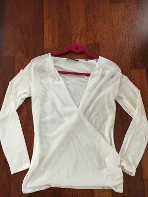 Esprit Camisa cruzada blanco puro