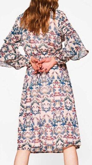 Esprit crinkle Kleid mit Blumen