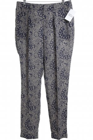 Esprit Culottes cream-dark blue abstract pattern business style