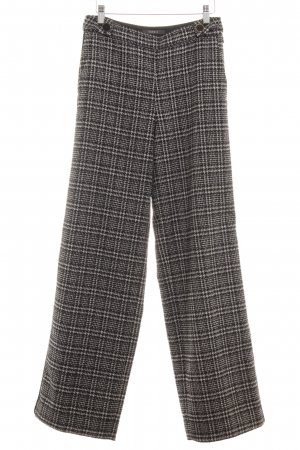 Esprit Culottes black-oatmeal houndstooth pattern casual look