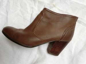 Esprit Damen ankle boots mit Absatz Reißverschluss 39 cognac braun Schuhe Stiefeletten Stiefel Pumps riemchen