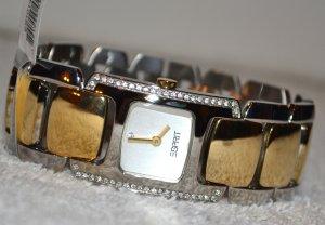 Orologio con cinturino di metallo bronzo-bianco Acciaio pregiato