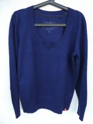 Esprit – Damen Feinstrick-Rundhals-Pulli, royal blau - Gebraucht, fast wie neu