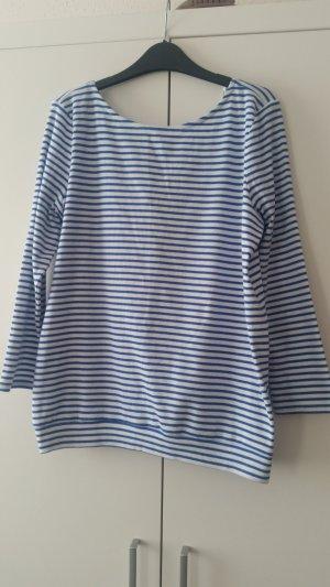 edc by Esprit Camisa con cuello caído blanco-azul acero