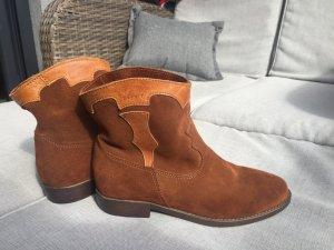 ESPRIT Damen Stiefeletten Cowboy style Boots LEDER Gr.37 !NEU!