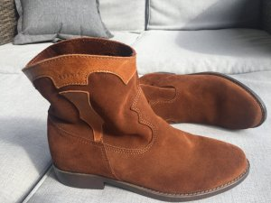Esprit Western Booties camel-sand brown leather