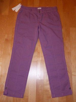 ESPRIT Damen Turn-Up Hose Chino 38/32 Violett Lila Mauve Neu