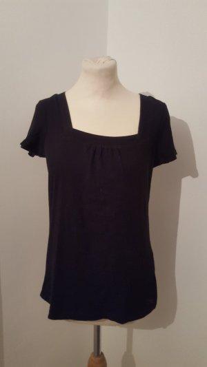 Esprit Damenshirt Basic Shirt schwarz Größe L kurzarm