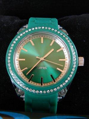 Esprit Damenuhr Play Glam Green  Analog Silikon Grün- neu