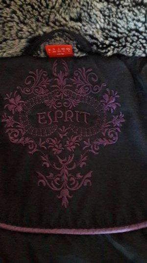 Esprit Daunen Winterjacke mit Webpelzkragen
