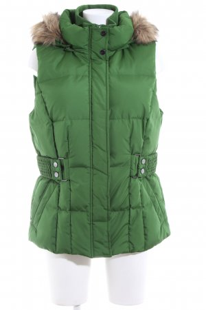 Esprit Down Vest green quilting pattern casual look