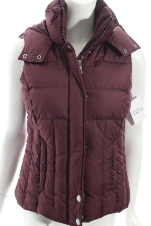 Esprit Daunenweste braunviolett Street-Fashion-Look