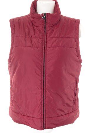 Esprit Piumino smanicato rosso scuro stile casual