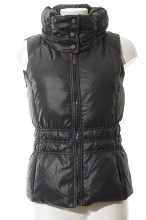 Esprit Down Vest black-silver-colored athletic style