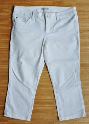 Esprit Denim Capri 7/8-Hose Baumwoll-Stretch weiß Gr. 30