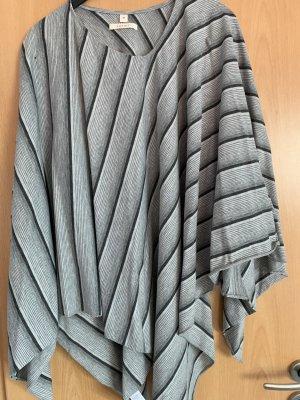 Esprit Poncho zwart-zilver Katoen