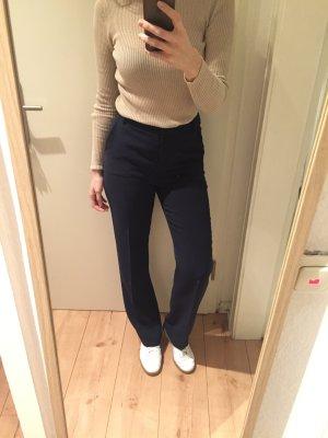 Esprit Dunkelblaue Wide Leg Stoffhose