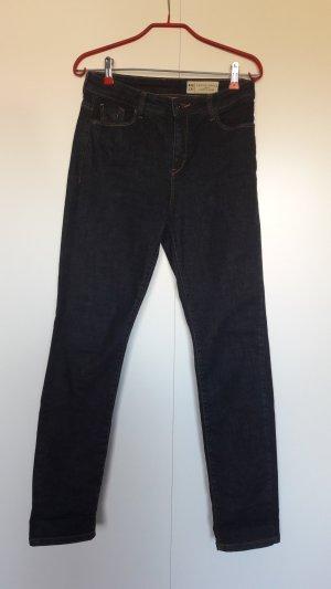 Esprit dunkle Slim Fit Jeans Highwaist dunkelblau W28 L30