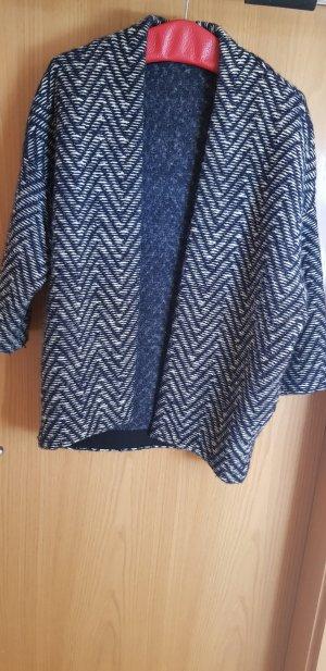 Esprit Veste en laine blanc-bleu foncé