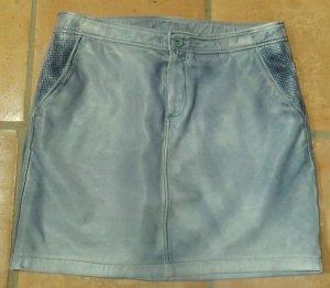 Esprit - Echt- Lederrock - Gr. 36 - blau, Jeans-Style -