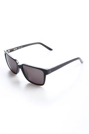 Esprit eckige Sonnenbrille schwarz-anthrazit grafisches Muster Schimmer-Optik