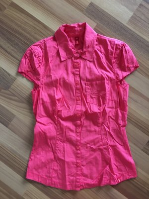 Esprit edc Bluse Damen, Größe XS 34, rot, kurzärmlig, kurzarm