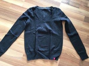 Esprit edc Damen Pullover, V-Neck, schwarz, Größe 34 XS