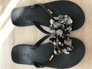 Edc Esprit High-Heeled Toe-Post Sandals black