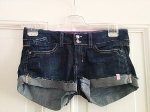 Esprit edc Jeans Shorts Hot Pants dunkelblau denim used look Gr. 34