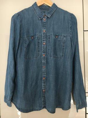 Edc Esprit Jeans blouse donkerblauw Katoen