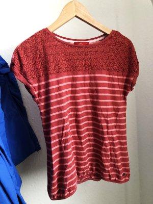 Esprit Gestreept shirt rood-lichtrood