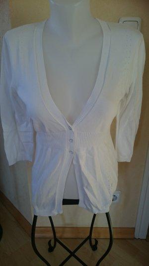 Esprit Giacca in maglia bianco