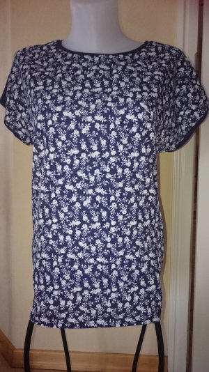 Esprit / Edc T-shirt Bluse Oversize Gr S Blau Blumen